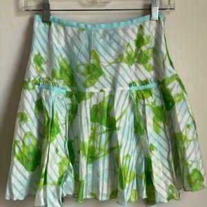 Diane Von Furstenberg Womens Leaf Silk Skirt
